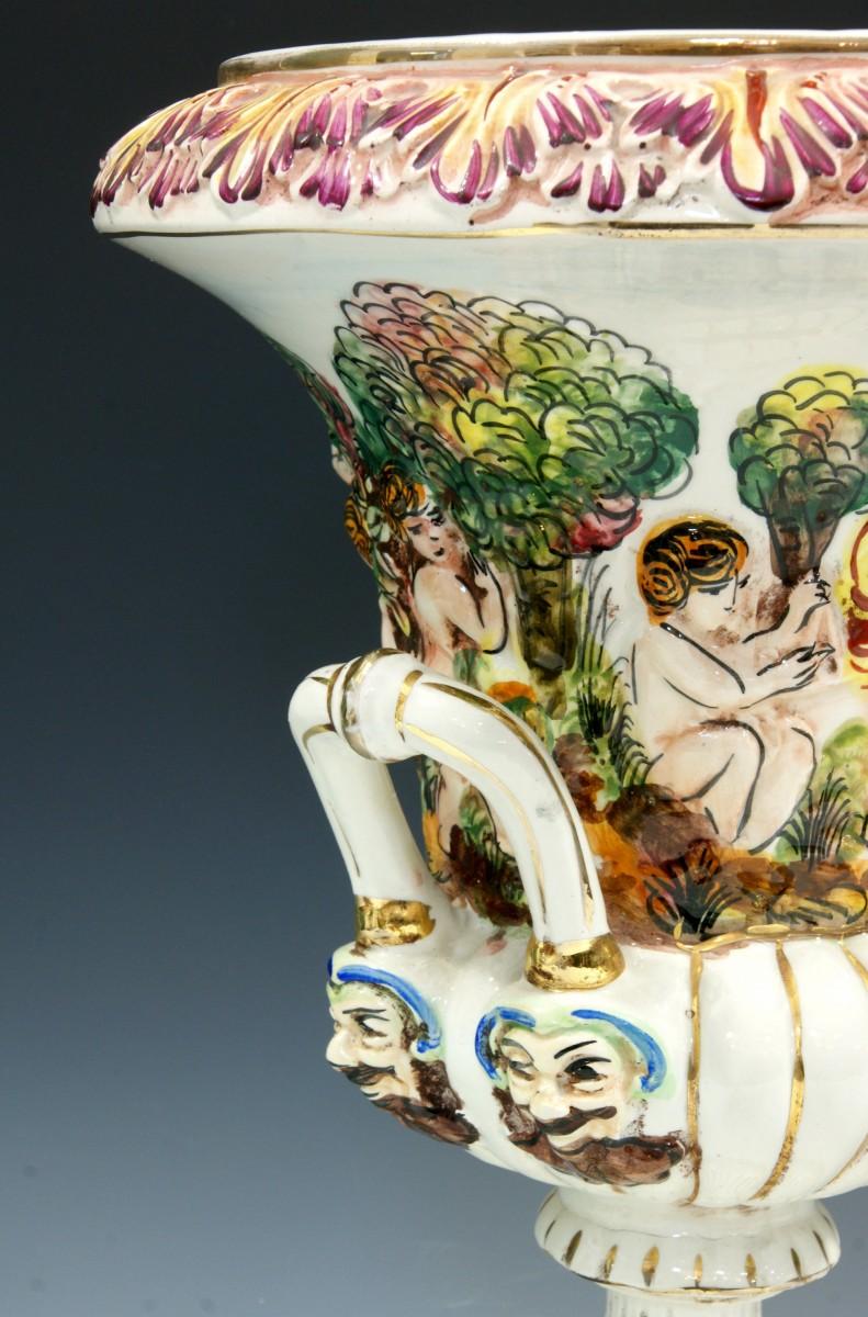 Antique capodimonte vases